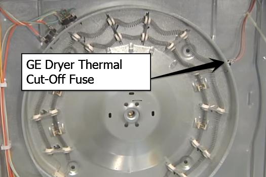 ge dryer thermal cutoff fuse
