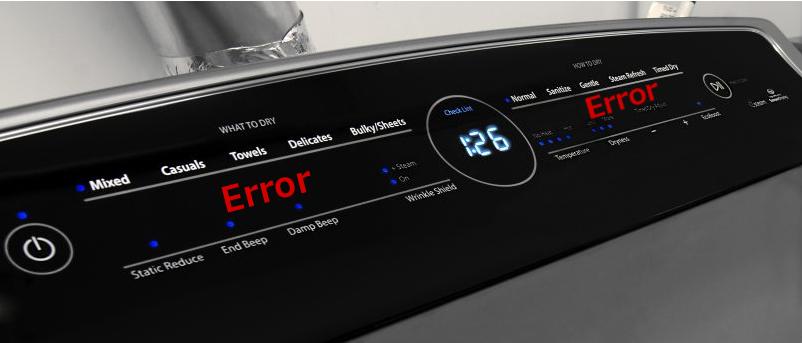 Whirlpool Cabrio Error Codes