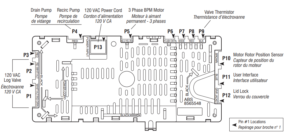 Whirlpool Cabrio Control Board Connections