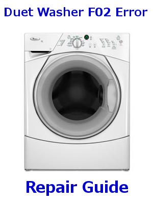 Duet Washer F02 Error