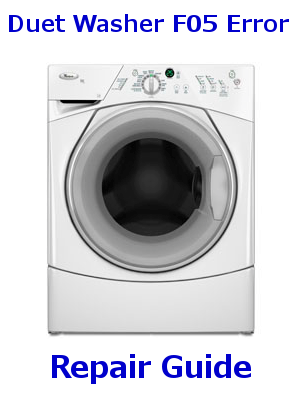 Whirlpool Duet Washer F05 Error Code Appliance Repair Guides